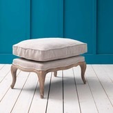 Graham and Green Antoinette Oak Footstool in Herringbone