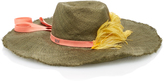 Littledoe M'O Exclusive Monogrammable Salvaza Straw Hat With Feather And Rayon Ribbon