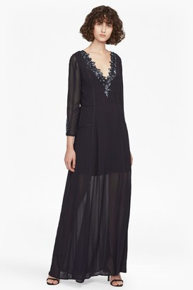 French Connection Tessie Drape V Neck Maxi Dress