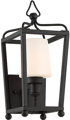 Crystorama Sylvan Outdoor Sconce - Black/Frosted