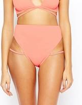 Asos Lattice Strap High Leg Bikini Bottom