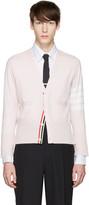 Thom Browne Pink Classic Short V-neck Cardigan