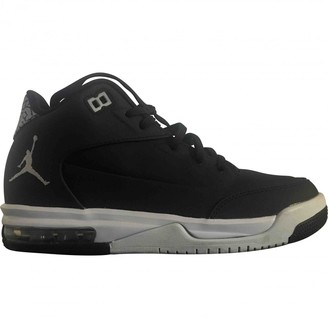 Jordan Black Leather Trainers