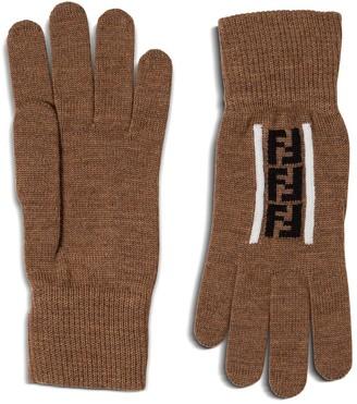 Fendi FF Intarsia Gloves
