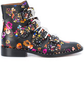Givenchy floral-print ankle boots - women - Leather - 35