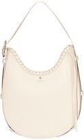 Modalu Luna Scoop Leather Large Shoulder Bag, Cream