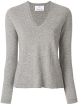 Allude button detail sweater