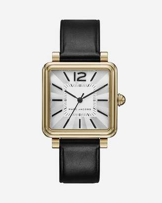 Express Marc By Jacobs Gold Leather Vic Watch