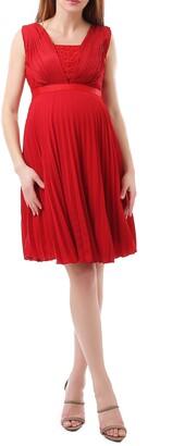 Kimi and Kai Lauren Chiffon & Lace Maternity Dress