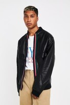 The New County Bentley Taped Black Faux Leather Jacket