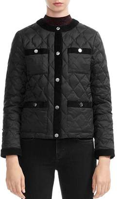 Maje Galipe Quilted Coat