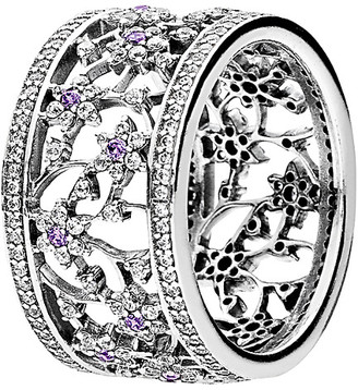 Pandora Silver Cz Forget Me Not Ring