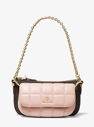 MICHAEL Michael Kors MK Jet Set Quilted Leather and Logo 4-in-1 Crossbody Bag Set - Brn/sftpink - Michael Kors