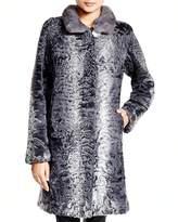 Maximilian Furs Maximilian Lamb Coat with Mink Collar