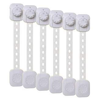 Dream Baby Dreambaby Twist 'N Lock Multi-Purpose Latch, 6 Pack, White