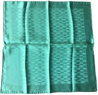 Hermã ̈S HermAs Gavroche 45 Green Silk Scarves