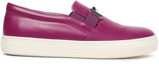 Tod's Embellished Leather Slip-on Sneakers