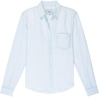 Rails Raw Cut Light Vintage Denim Ingrid Shirt - Small (UK 10)   pale blue - Pale blue