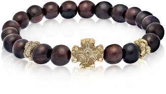 Antique Style Bracelet w/Ebony Beads