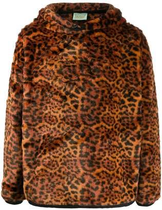 Aries Leopard Print Hoodie