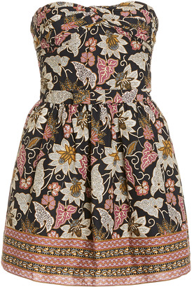 Alexis Malena Printed Cotton Mini Dress