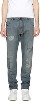 Diesel Blue Krookley CB-Ne Patch Jogg Jeans