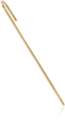 KATKIM 18K Yellow Gold Thread Ear Pin