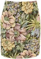 Topshop Tapestry High Waisted Mini Skirt