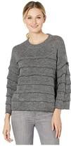 CeCe Long Sleeve Tiered Ruffle Sweater with Lurex (New Smoke) Women's Clothing