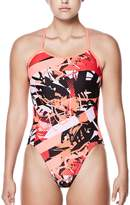 Nike Women's Performance Cutout Graphic One-Piece Swimsuit