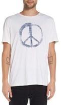 John Varvatos Men's 'Peace Symbol' Graphic Crewneck T-Shirt