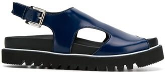 Plan C Platform Sole Sandals