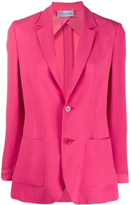RED Valentino Fitted Single-Breasted Blazer