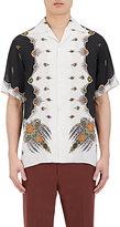 Gucci Men's Treasure-Print Colorblocked Bowling Shirt