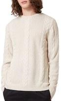 Topman Men's Cable Knit Crewneck Sweater