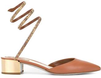 Rene Caovilla Cleo metallic block heel sandals