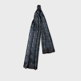 Paul Smith Men's Navy 'Logan Floral' Print Silk Scarf