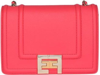 Elisabetta Franchi Logo Buckle Shoulder Bag