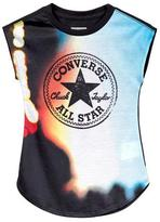 Converse Girls' Logo Tee With Dropped Shoulders