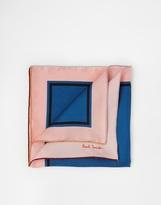 Paul Smith Block Silk Pocket Square - Blue