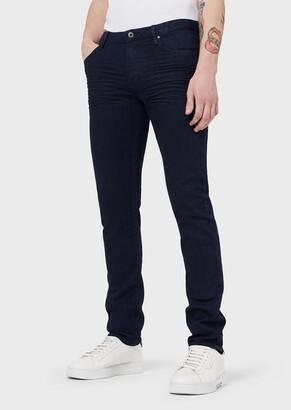 Emporio Armani J06 Slim-Fit Stretch Cotton Denim Jeans