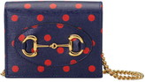 Gucci 1955 Horsebit Polka Dot Leather Wallet on a Chain