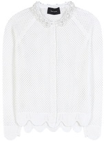 Simone Rocha Embellished Merino Wool, Silk And Cashmere Cardigan