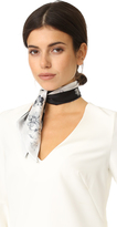 Salvatore Ferragamo Floral Silk Twilly Scarf