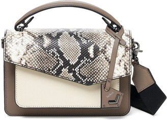 Botkier Cobble Hill Snake Embossed & Colorblock Leather Crossbody Bag