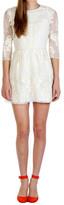 Dolce Vita Valentina Embroidery Dress White