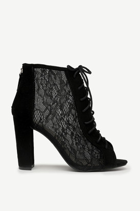 Ardene Lace Up Block Heels
