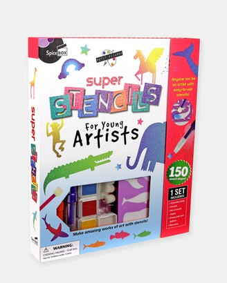 SpiceBox - White Activity Kits - Super Stencils Kit - Teens - Size One Size at The Iconic