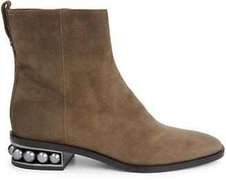 Nicholas Kirkwood Casati Faux Pearl Leather Ankle Boots