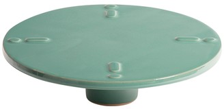 Dragonfly High Stand Ceramic Plate Turquoise